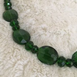 Jewelry - NEW Green Beaded Statement Necklace